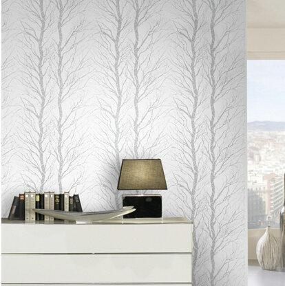 Mop water modern 3d wallpaper living room grey beige wood for Beige wallpaper living room