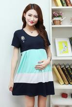 2016 New M-XXXL Plus Size short Sleeve Maternity Tops Shirt Clothes for Pregnant Women Pregnancy Cotton T-Shirt(China (Mainland))