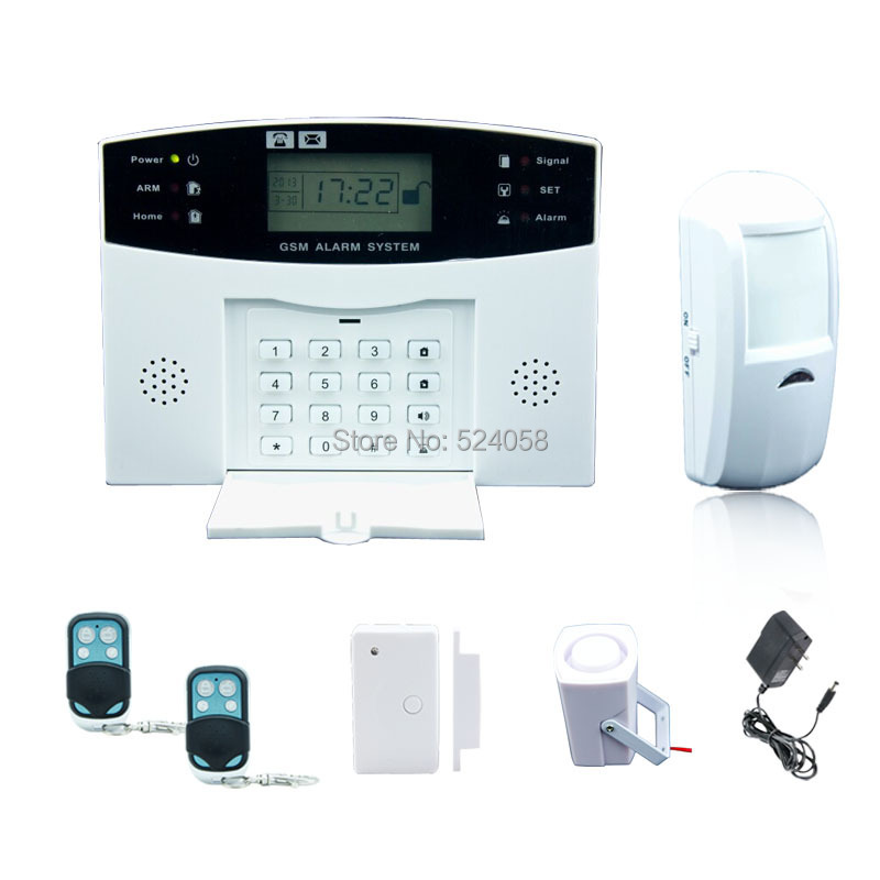 Gsm wireless home burglar security alarm system with LCD display<br><br>Aliexpress