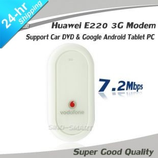Freeshipping UNLOCKED HUAWEI E220 3G HSDPA USB MODEM 7.2Mbps wireless network card support car DVD GPS & Android tablet PC