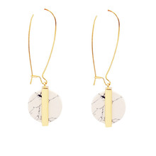 New fashion jewelry white turquoise round drop earring gift for women girl wholesale E3096(China (Mainland))