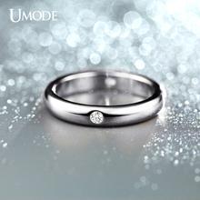 UMODE Burnish 4 Pieces CZ Diamond Flush Setting Wedding Band Ring for Women White Gold Plated Jewelry Rings JR0139B(China (Mainland))