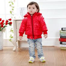 Children's Space Suit Winter Thickening Cold-Proof Girl And Boy Red Black Soft High Quality Outwear Kids Cotton Wadded Jacket