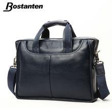 Bostanten Famous Designer Brand Bags Men Leather Handbags Genuine Men Business Briefcase Vintage Crossbody Messenger Mens Bag