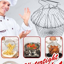 Expandable Fry Chef Basket Kitchen Colander Cooking Expandable as seen on TV(China (Mainland))