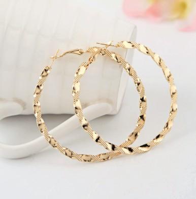 E282 Free shipping!Earings Fashion 2014 Free Shipping Exaggerated Ruili Fashion Boutique Hoop Gold Earring For Women333(China (Mainland))
