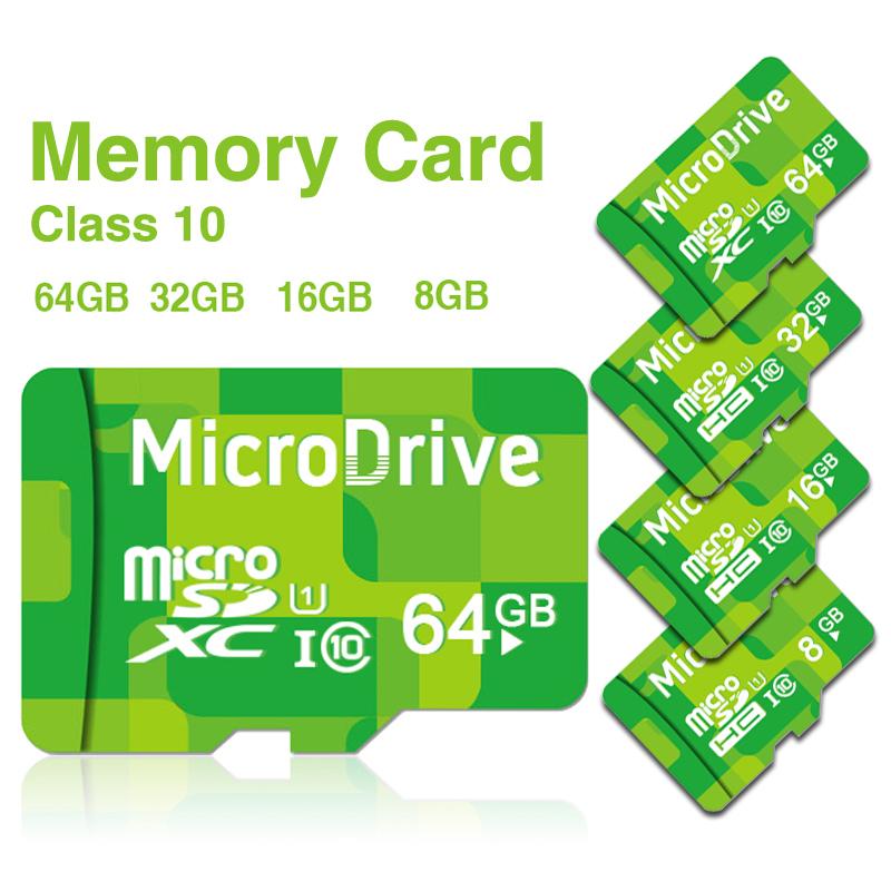 100% Original Genuine MicroDrive Brand Green 64G 32G 16G 8G 4G Ultra micro SD SDHC SDXC Card TF Class 10 to Pass H2testw(China (Mainland))