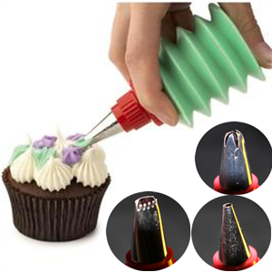 3 Pcs/Set Cakes Decorating Design Dessert Decorator Cupcakes Cooking Baking Pastry Kitchen Gadgets Tools Dining Bar Accessories(China (Mainland))