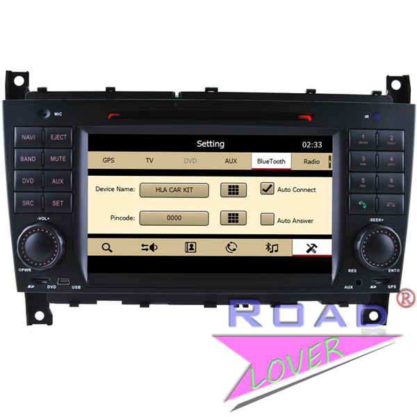 Car PC for Benz C-Class W203 2004 2005 2006 2007/CLK W209 2008 2007 2006 2005 DVD GPS Navi Stereo Audio BT TV RDS USB Ipod AUX(China (Mainland))
