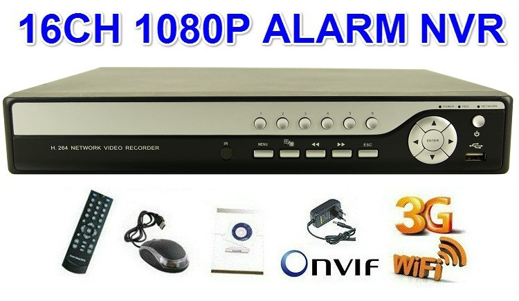 New ! Standalone LINUX H.264 Full 16 Channel 1080P CCTV Security NVR HDMI 1080P IP Cameras 16CH NVR Recorder(China (Mainland))