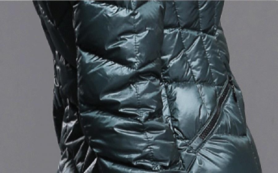 Скидки на 2016 Зима женская Мода Европейский Стиль Тонкий Стенд-ошейник С Длинным Рукавом С Капюшоном Вниз Хлопок Парки