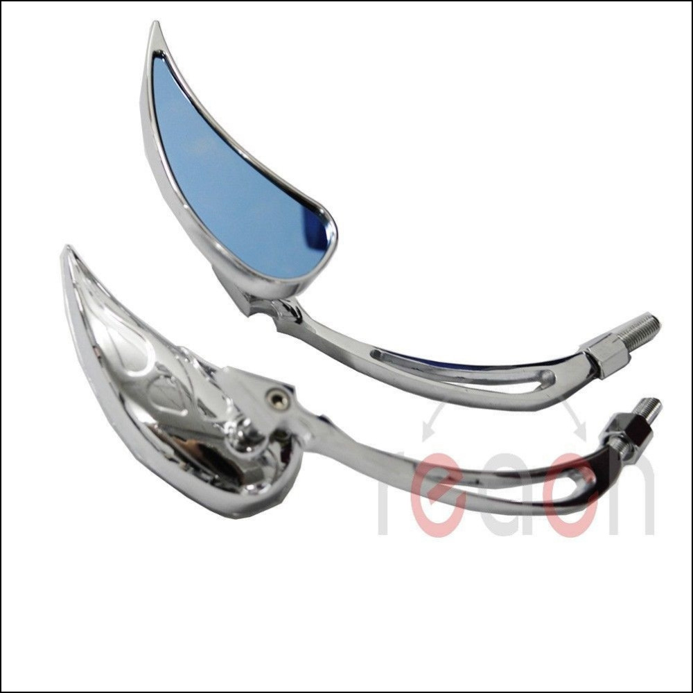 New Chrome Teardop Custom Rearview Mirrors For Harley Motorcycle Cruiser Chopper(China (Mainland))