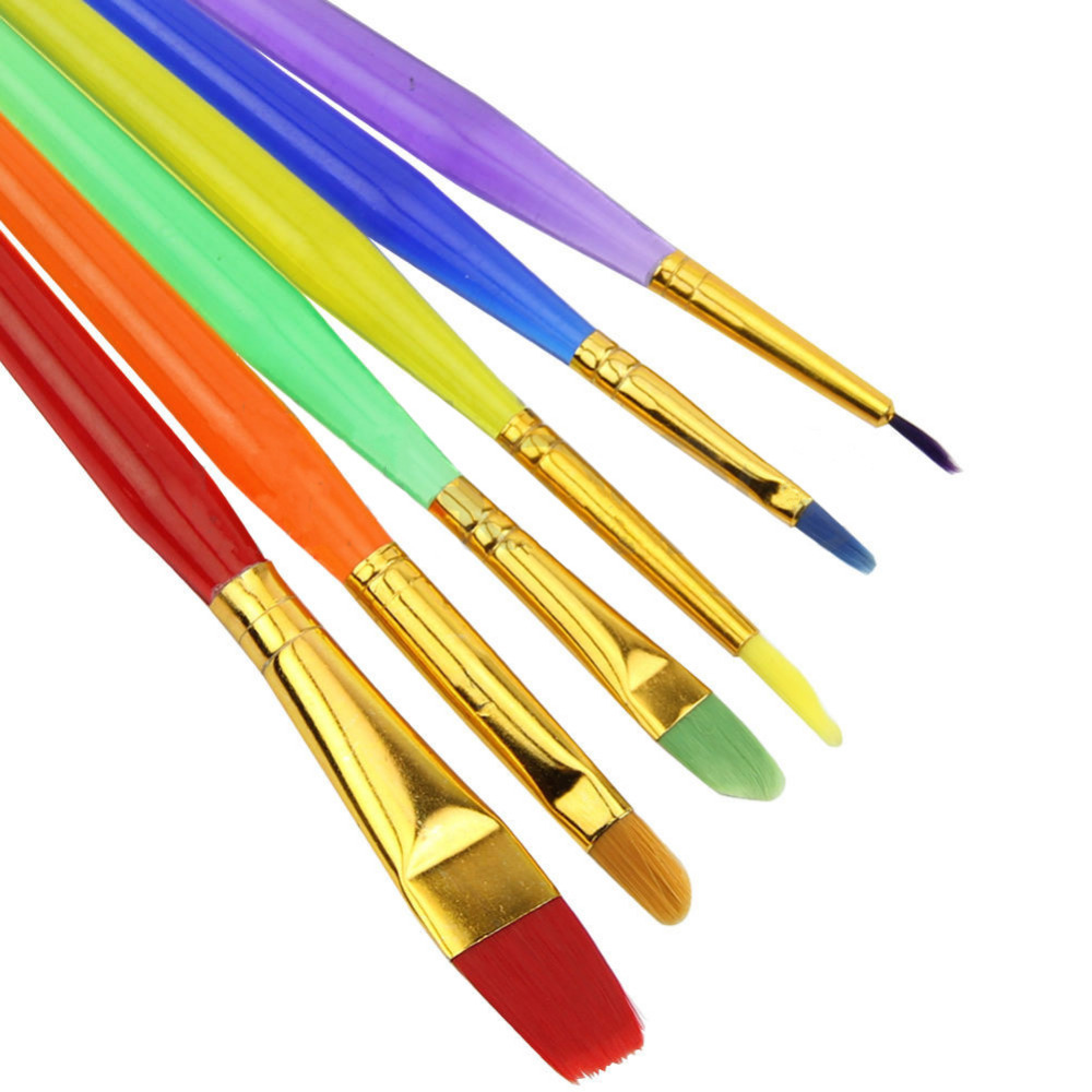 Aliexpress.com : Buy Bake Brush Nylon Colorful Tip Child ...