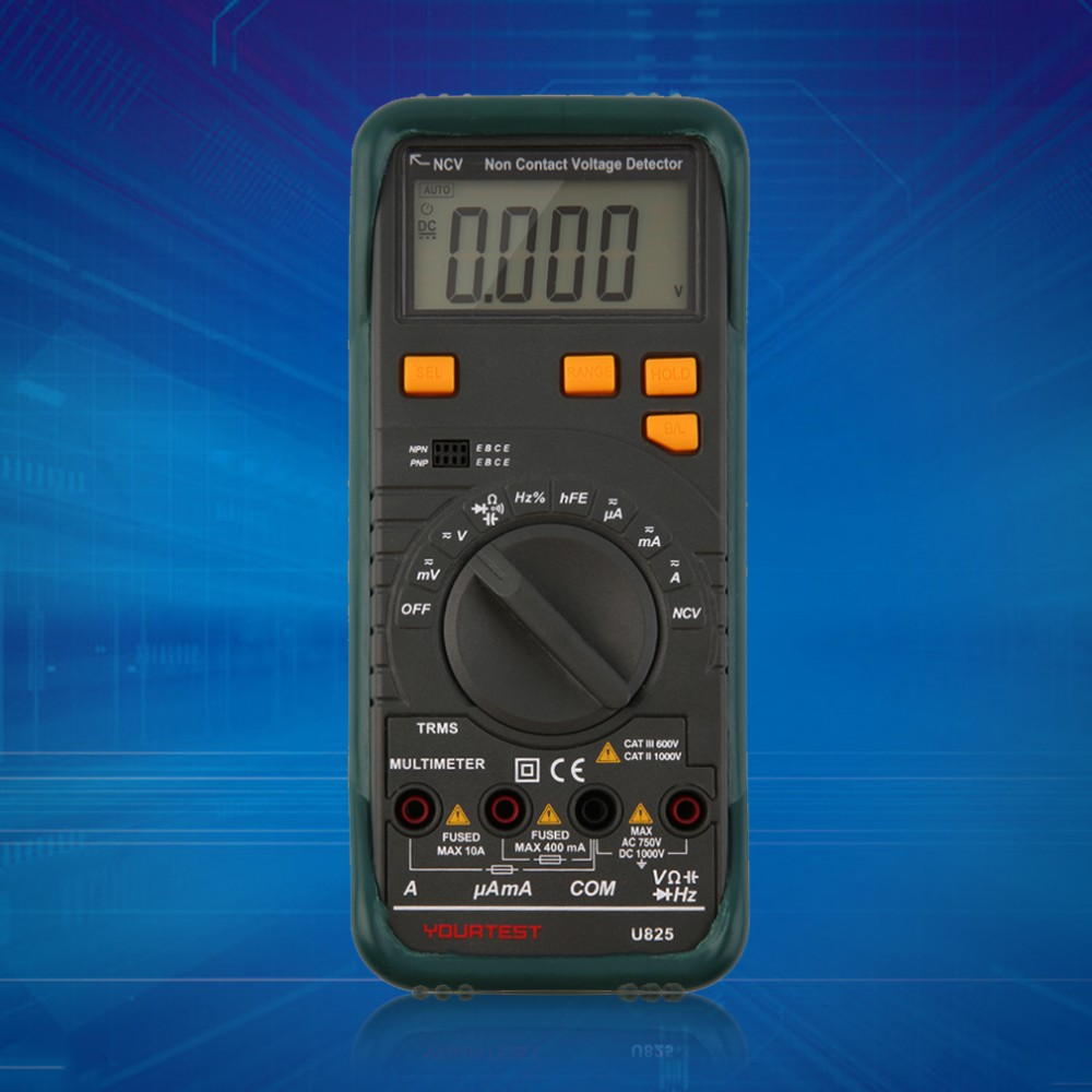 2016 In style New Digital Multimeter AC DC Voltage Frequency Tester Detect Continuity