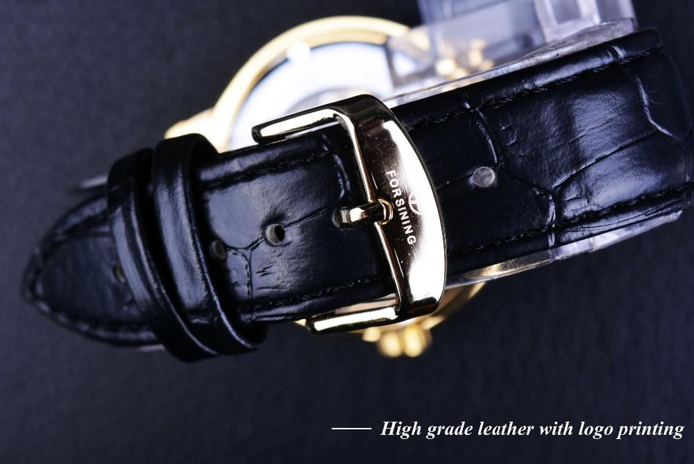 Forsining 3d Hollow Engraving Skeleton Mechanical Watch