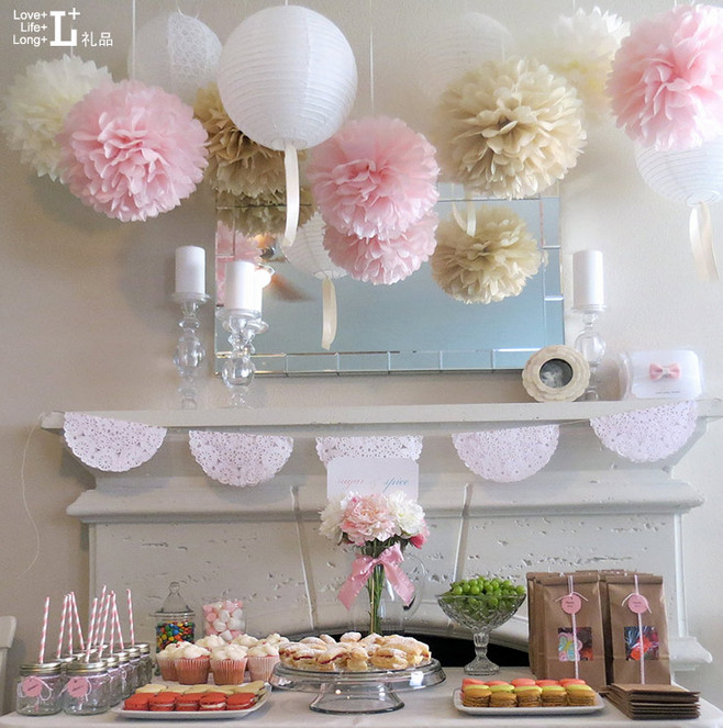 paper flower ball 20pcs lot 8 inches holiday decorations wedding decoration pom poms tissue. Black Bedroom Furniture Sets. Home Design Ideas