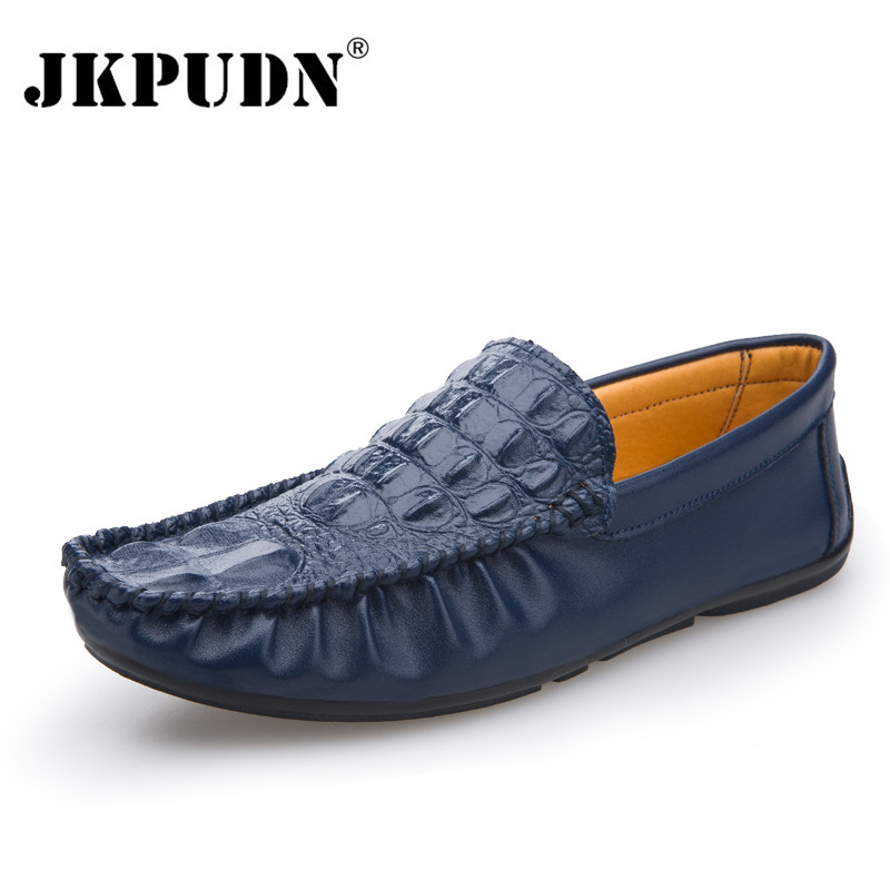 Crocodile Leather Men Loafers Moccasins Designer Italian Shoes Men Casual High Quality Breathable Flat Driving Shoes Espadrilles(China (Mainland))