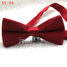 Free shipping brand new Men multicolor solid color bowtie tuxdo cashmere neck ties fashion double layer