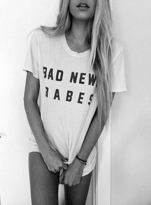 Women Bad News Babes t shirt 100% Cotton O-Neck Tees Shirts Sports t-shirt Funny Custom t-shirt Free Shipping(China (Mainland))