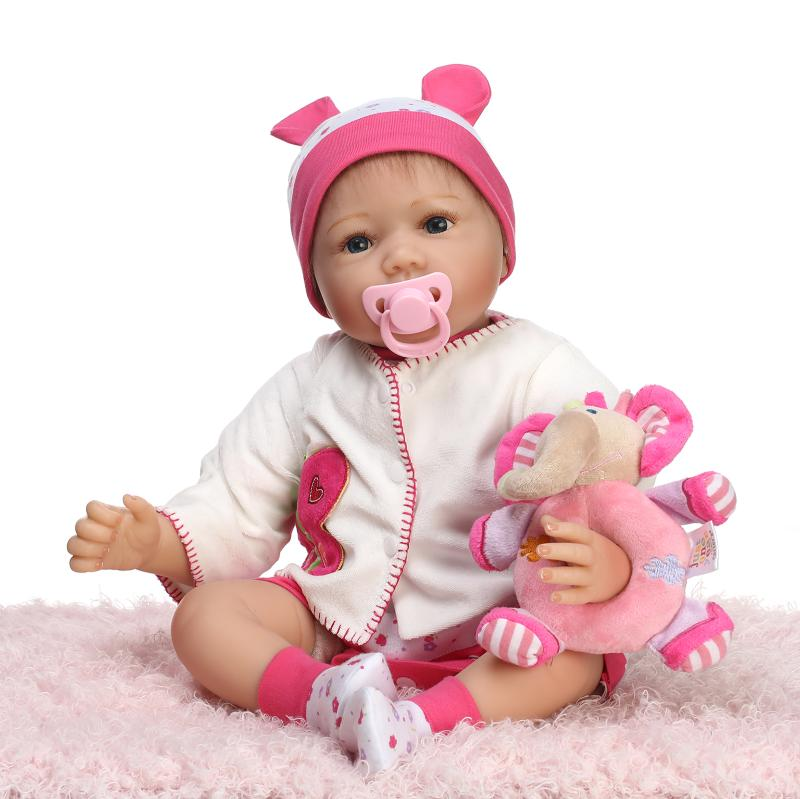 Latest 55cm 22inch Baby Reborn Doll With Comfortable Handmade Baby Doll Clothes New Design Benecas Reborn Toys for Girls Gift(China (Mainland))