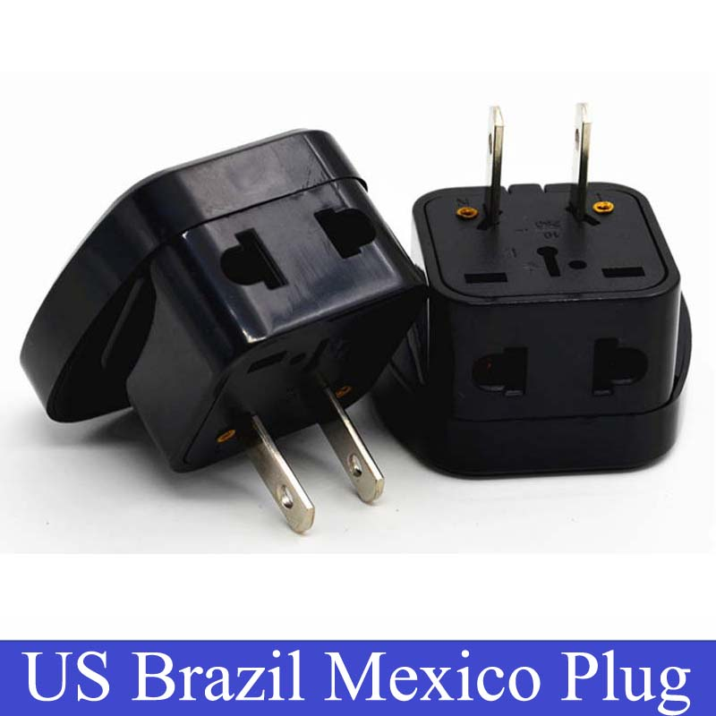 Hight Quality Power Adapter Travel Adaptor 2 pin USA Converter to AU UK EU to Universal US Plug Charger For Canada Brazil Mexico(China (Mainland))
