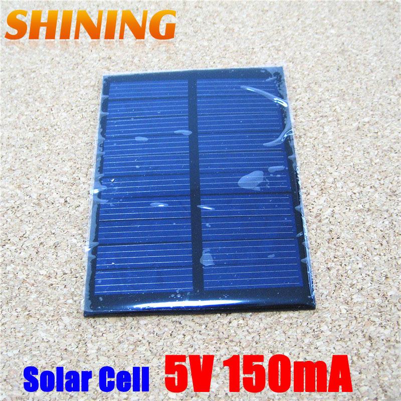Wholesale 10Pcs/Lot 0.75W Polycrystalline Solar Cell Panel, Mini Solar Panel Small Solar Cell PV Module For DIY Solar Kits(China (Mainland))