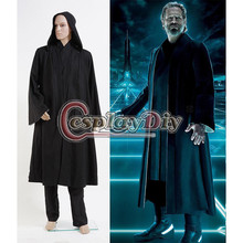 Custom Made Tron: Legacy Kevin Flynn Black Uniform Adult Men Halloween Party Cosplay Costume D0527