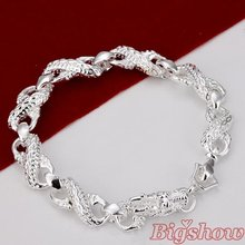 Free Shipping silver plated bracelet fashion bracelets for women discount cheap halloween contacts China Lucky Jewelry(China (Mainland))