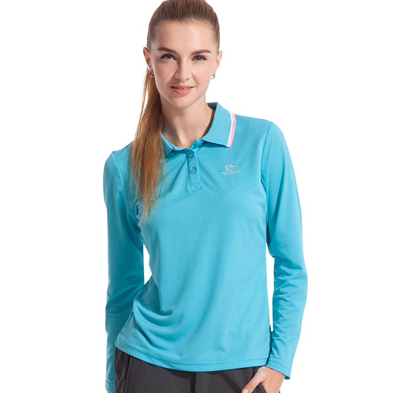 2015 regular quick drying long sleeve t shirt women anti uv solid polo shirt breathable sport t. Black Bedroom Furniture Sets. Home Design Ideas