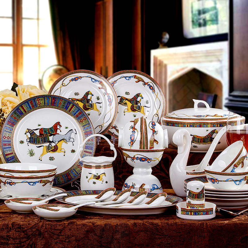 fine bone china dinner set 60pcs ceramic dinnerware set china