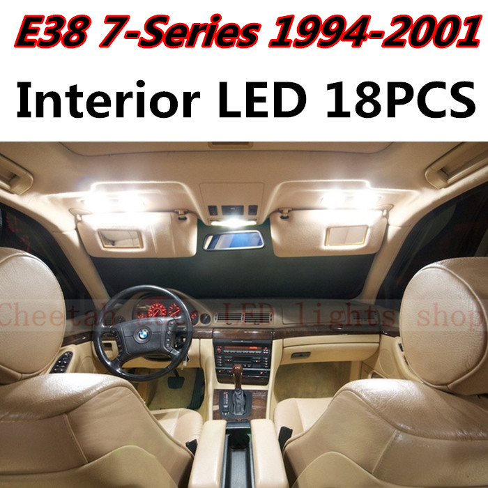 18pcs X free shipping Error Free LED Interior Light Kit Package for BMW E38 accessories 1994-2001<br><br>Aliexpress