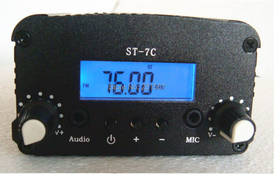 2016 NEW! 7W stereo PLL FM transmitter broadcast radio station ST-7C 76-108MHZ only host(China (Mainland))