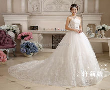 s Stock 2016 New Plus size bridal gown wedding dress long trailing train long vestidos de noiva chinese princess c11xxn(China (Mainland))