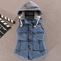 Women s Cotton Hooded Down Vest Coats Female New Female Autumn Thicken Warm Casual Jacket Outerwear