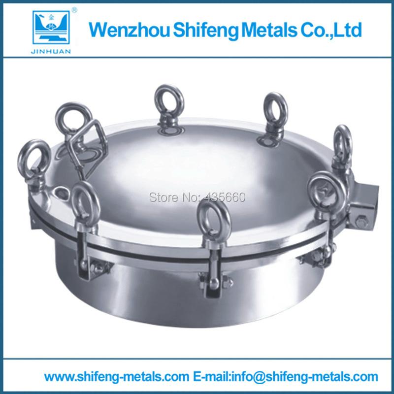 400mm Food grade stainless steel 304 round manhole cover/manway pressure 3bar(China (Mainland))