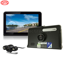 Новый 7 дюймов GPS навигация андроид gps-dvr Allwinner A33 четырехъядерных процессоров 16 ГБ двойная камера цифровой видеорегистратор камера заднего вида