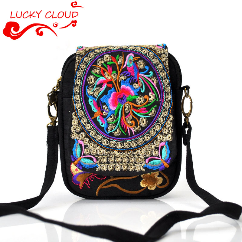 2015hot! Ethnic embroidery mini bags embroidered Clutch key case purse handbag cards Coins phone bag messenger bag Chinese style<br><br>Aliexpress