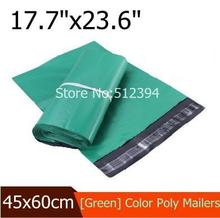 "Green Poly Mailing bags Wholesale 100pcs 45x60cm(17.7""x23.6"") Plastic Envelope Express bags Big Courier Bags for Down Jacket(China (Mainland))"