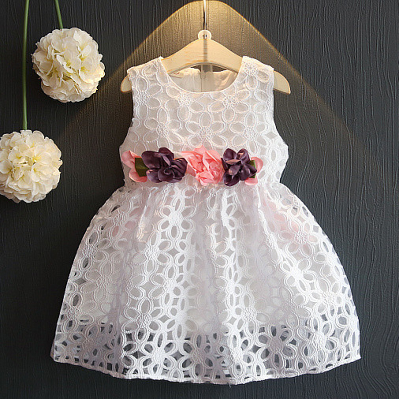 0-7Years/Summer Dresses For Party Baby Girls Clothing Flower Princess Sleeveless Lace Tutu Dress Costume For Kids Clothes BC1353(China (Mainland))