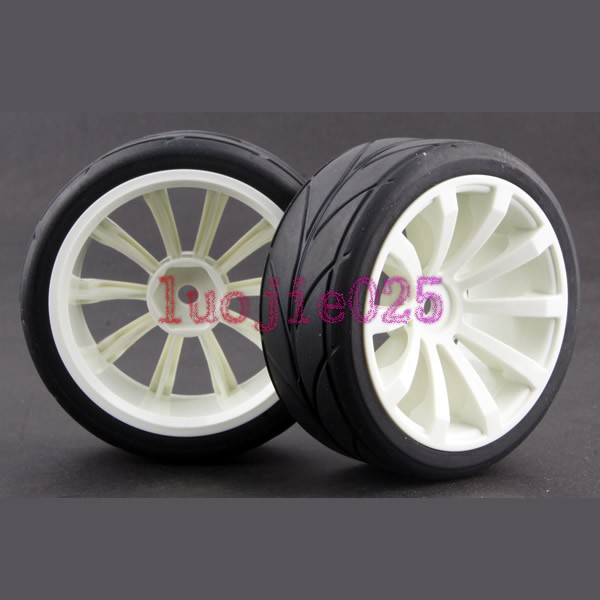 4PCS RC 1:10 On Road Model Car Rubber Sponge Tires Tyres & Wheel Rim 602-6081(China (Mainland))