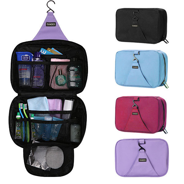 good quality large capacity multicolors hanging cosmetic travel wash bags men and women Nylon organizers with zipper(China (Mainland))