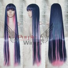 Heat Resistant Anime Fashion Panty & Stocking with Stocking Cosplay Wig blue pink