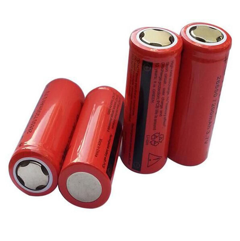 10PCS 3.7V 7200mAh 26650 Battery lithium Li Ion Rechargeable Large Capacity T6 strong light flashlight New Hot free shipping(China (Mainland))