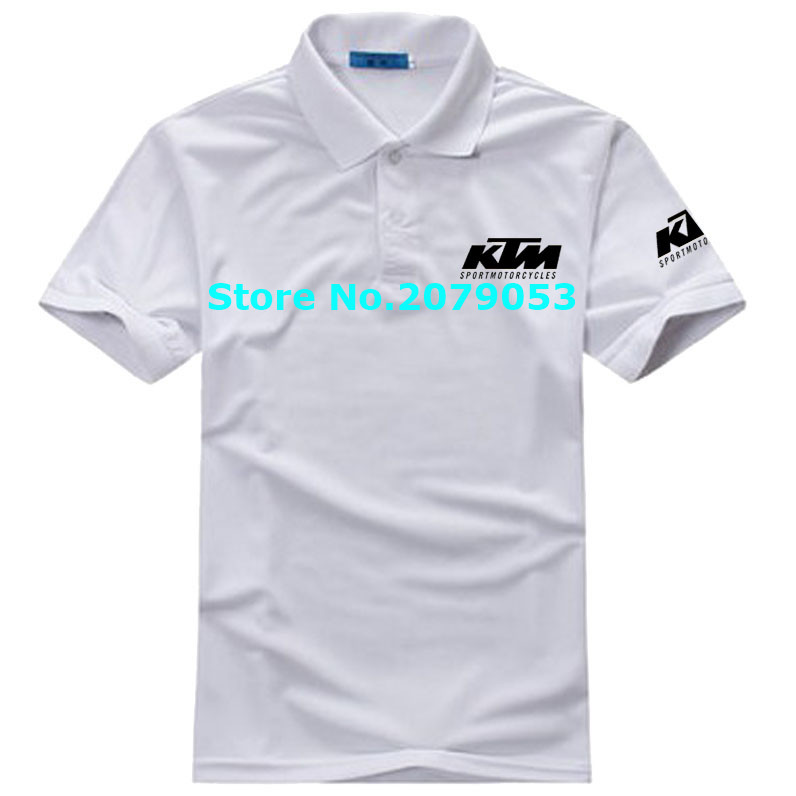 8 COLOUR Size S - 3XL KTM motorcycle cotton short-sleeved POLO shirt fans clothing custom men and women(China (Mainland))