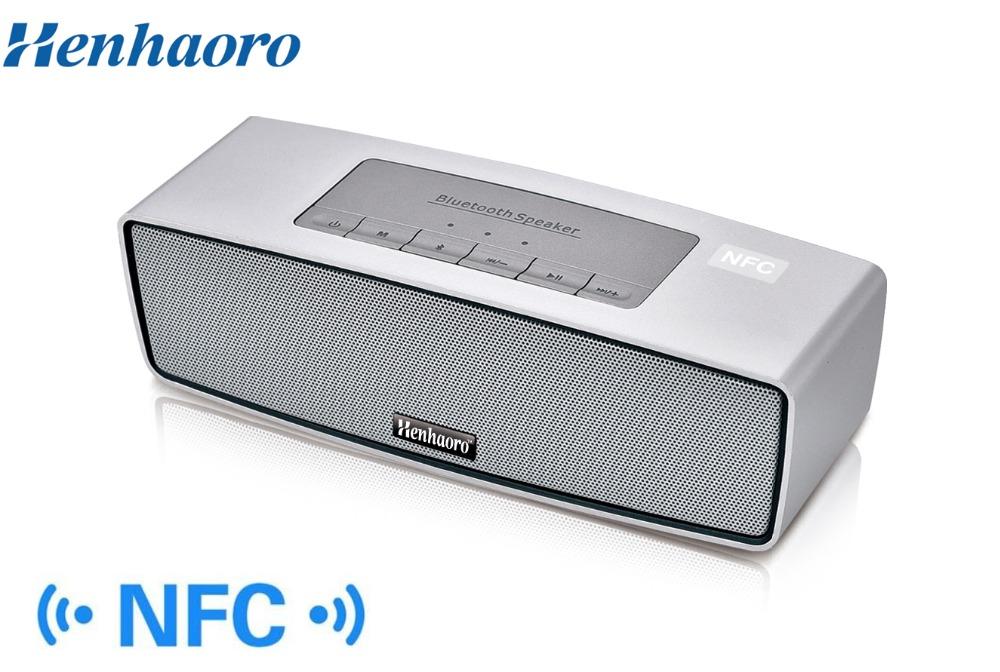 Henhaoro Mini NFC Bluetooth Speaker Portable Wireless speaker Sound System stereo Music surround support TF card USB Line in(China (Mainland))