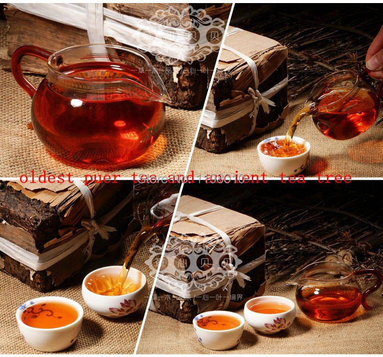 Made in1970 raw pu er tea 250g oldest puer tea ansestor antique honey sweet dull red