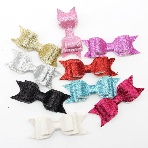 1 PC Women Baby Girls Kids Bling Hair Clip Sequined Double Big Bow Knot Hair Accessories(China (Mainland))