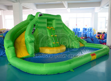 Crocodile water slide,inflatable water slide with water pool for summer(China (Mainland))