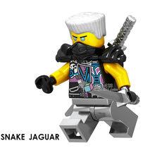 Ninja Legoing Ninjagoes Figuras Cobras Rattla Pythor Garmadon Bytar Rattla Samukai com Blocos de Construção Arma Brinquedos Amigos(China)