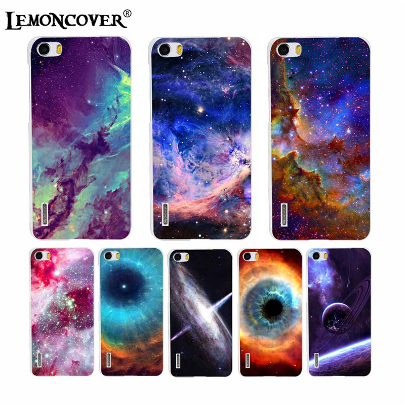 Different Amazing Universe Space Phone Cases For Huawei Honor 6 Case Silicone Soft Shell Back Cover Transparent Unique Planet 3D(China (Mainland))